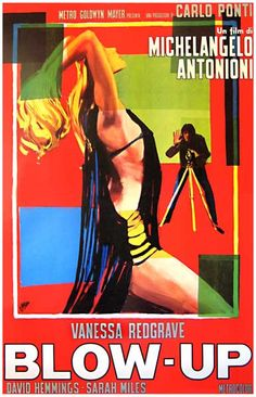 A great movie poster from Michelangelo Antonioni's 1966 critically-acclaimed Italian film Blowup! Starring the sultry Vanessa Redgrave. Ships fast. 11x17 inches. Need Poster Mounts..?