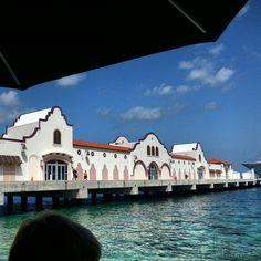Cozumel shops on the pier