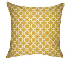 Yellow Throw Pillow  Mill Creek Hockley Banana by Landofpillows, $15.99 Etsy