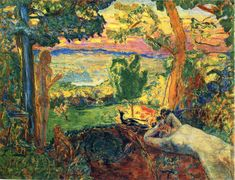 Earthly Paradise, Pierre Bonnard Size: cm Medium: oil on canvas Pierre Bonnard, Garden Painting, Painting & Drawing, Art Institute Of Chicago, Paradis, French Artists, Anime Comics, Beautiful Artwork, Love Art