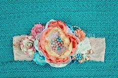 Coloful headband 6 month headband baby by KyleighsCreations, $29.50