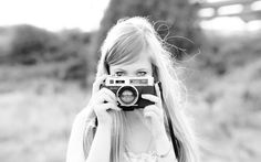 girl with #camera #photo #black and #white, This post features stunning iconic contemporary #self #portrait of girls with camera from some of the finest and best known celebrities and photographers.