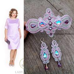 Diy Jewelry, Jewelery, Handmade Jewelry, Shibori, Soutache Earrings, Crochet Earrings, Fabric Origami, Ring Necklace, Handmade Art