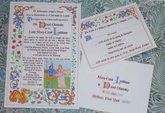 Medieval, Renaissance, Knight, Castle, Royal Wedding Invitation Suite Sample