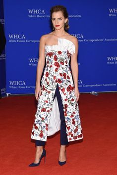 Pin for Later: It Wouldn't Be the White House Correspondents' Dinner Without a Side of Style Emma Watson In an Osman dress layered over pants.