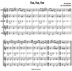 "Free: Fum, Fum, Fum"" Orff Arrangement | Tom's Orff Arrangements.  Great for elementary students / music teachers"