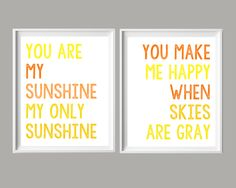 These are some of my very favorite nursery lyrics/quotes (I bet they're some of yours, as well!), and I'm so excited to share them as free printables today! Download them, print onto 8&…