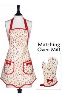 This retro apron + matching mitt is cuuutteee.