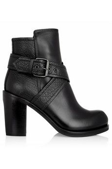 McQ Alexander McQueen Crossover-strap leather ankle boots | NET-A-PORTER
