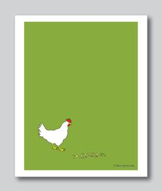 """Blank Note Card, Blank Greeting Card Set of 3 Titled """"The Chicken"""" - pinned by pin4etsy.com"""
