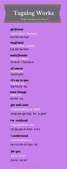 Tagalog Words, Tagalog Quotes, Languages Online, Foreign Languages, Philippines Tattoo, Philippine Mythology, Filipino Words, Improve English Speaking, Filipino Culture
