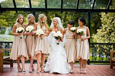 convertible bridesmaids dresses bridal party style inspiration from Etsy nude 2