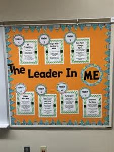 Image result for Leader in Me Bulletin Boards Leadership Bulletin Boards, Student Leadership, Leadership Activities, Classroom Bulletin Boards, Classroom Ideas, Outdoor Classroom, Leadership Development, Seven Habits, Life Coach Training