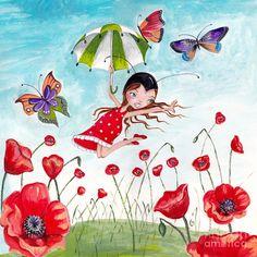 Girl With Umbrella  ~ Caroline Bonne-Muller