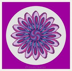 Mandala Twister  counted crossstitch embroidery pattern  by Droomcreaties