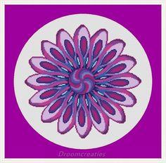 Mandala Twister - digital crossstitch embroidery pattern pdf - 171 x 167 cross stitches - 31 x 30 cm or 13 x 12 inches - created by Droomcreaties Design & Foto Studio (www.droomcreaties.nl)