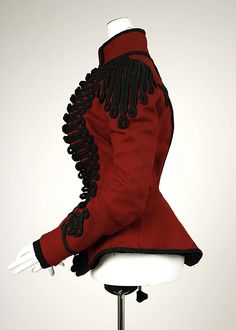 side view of european wool Jacket, c 1899, Met Costume Institute