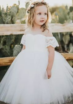 e13bd48bb0bb FATTIEPIE Harper Ivory Flower Girl Dress Ivory Flower Girl Dresses, Flower  Girl Dress Tulle,