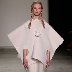 Stationery and ring-bound sheets of paper influenced this collection by Westminster fashion graduate Sophie Nuttall.