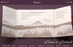 Ski mountain letterpress wedding invitation with wax seal and ski tag place cards