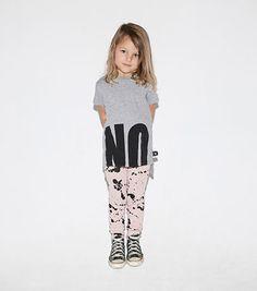 NUNUNU NO! T-shirt 2 Lengths Heather Grey