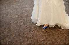gorgeous blue shoes! Real Wedding: A Golf-Themed Fall Wedding at Shaker Country Club