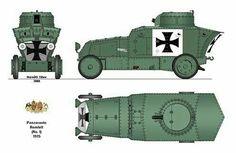 Austro-Hungarian armored car WW I Les Balkans, Ww1 Tanks, Armored Vehicles, Armored Car, Austro Hungarian, Military Diorama, Korean War, World War One, Military Weapons