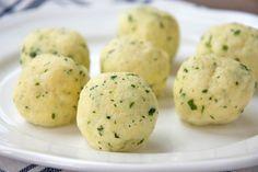Kräuterknödel Tortellini, Austrian Recipes, German Recipes, Dumplings, Mashed Potatoes, Carne, Barbecue, Meal Prep, Nom Nom