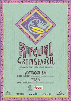 Entry now open for Rip Curl Grom Search 2019 UK Series. Retro Surf, Vintage Surf, Room Posters, Poster Wall, Surf Posters, Photo Wall Collage, Picture Wall, Surf Design, Doodle Inspiration