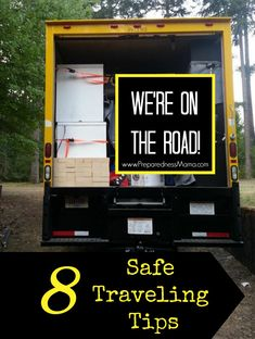 """8 """"On the Road"""" Safe Traveling Tips - The holidays are coming soon. These 8 safe traveling tips will get you to your destination with as little stress as possible. Be safe!"""