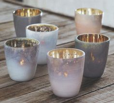 Roost Mineral Tealight Holders  http://www.modishstore.com/products/roost-mineral-tealight-holders-set-12