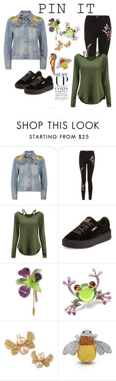 """""""Pins with personality"""" by janie-xox ❤ liked on Polyvore featuring Gucci, Topshop, Puma, NOVICA, Bulgari, Carolee, Bling Jewelry, Elizabeth Cole and pins"""