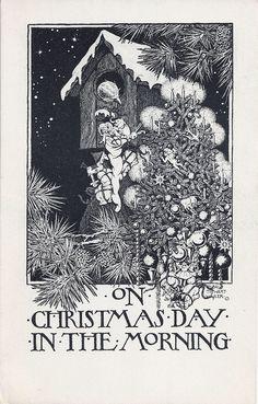JOYEUX NOËL - 25 DECEMBRE - ART NOUVEAU | Art Nouveau Post Cards ...