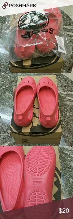 Crocs Kade flats Brand new. Says 5 on the bottoms. I'm a size 7 and they fit perfectly. CROCS Shoes Flats & Loafers