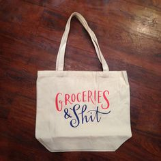 Graphic Tote - Groceries from Baglady Boutique