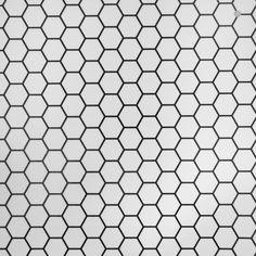 Sheet vinyl that looks like hexagonal tile from Linoleum City  Floor Covering Specialists Since