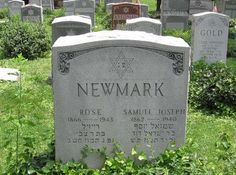 Tombstone of Sam and Rose Newmark - Second Great Grandparents