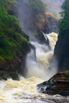 Murchison Falls National Park is a national park in Uganda managed by Ugandan Wildlife Authority. The park lies in north western Uganda, spreading inland from the shore of Lake Albert around the Victoria Nile. Beautiful World, Beautiful Places, Beautiful Pictures, Amazing Photos, All Nature, Amazing Nature, Beautiful Waterfalls, Beautiful Landscapes, Places To Travel