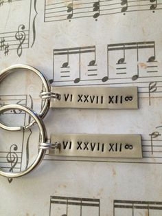 Couple's Keychains, Create Your OWN - Roman Numeral Date, Valentines Day, Anniversary, Wedding, Personalized. $22.00, via Etsy.