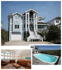 BH1S: Beach Haven 1 South  7 Bedroom Oceanfront Home in  The Village at Nags Head