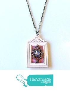 Vintage Style Framed Rhinestone Pendant Necklace from NatureAngels - Handmade, Upcycled and Vintage http://www.amazon.com/dp/B015HE0ZMQ/ref=hnd_sw_r_pi_dp_LKNfwb13MZH9Z #handmadeatamazon