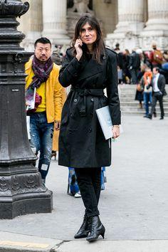 Emmanuelle Alt. Street style at Paris Haute Couture Week Spring/Summer 2014. #emmanuelle alt