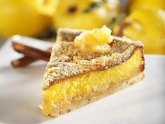 Quittenkuchen mit Marzipan Quince cake a recipe with fresh ingredients from the pome fruit category. Try this and other recipes from EAT SMARTER! Pastry Recipes, Baking Recipes, Dessert Recipes, Marzipan Recipe, Marzipan Cake, Cheesecakes, The Joy Of Baking, Nutella Recipes, Baking And Pastry