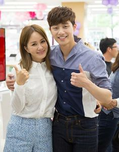 Uhm Jung Hwa & Park Seo Joon on the set of A Witch's Romance