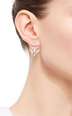 Antique Pink Earjacket by Joelle Jewellery for Preorder on Moda Operandi