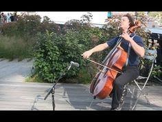 Cellist Matt Haimovitz performs Bachs Cello Suite No. 6 at The High Line in Lower Manhattan on Aug. 16, 2012. #Bach360 #WQXR