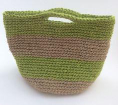 Striped Jute handbag basket lime & natural by Victoriamakes Jute Handbags, Knitted Hats, Lime, Basket, Knitting, Natural, Etsy, Fashion, Knit Hats