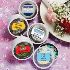 Design Your Own Collection White Mint Tin Favors - Holiday Themed