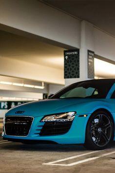 classyhustler:      Matte blue Audi R8