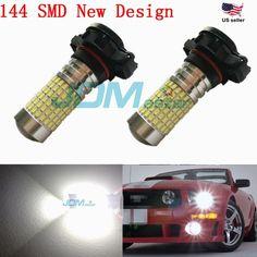 JDM ASTAR 2400 Lumens 144 SMD PSX24W 2504 Xenon White Car DRL Fog Light LED Bulb #JDMASTARaftermarketPSX24WLEDbulbs